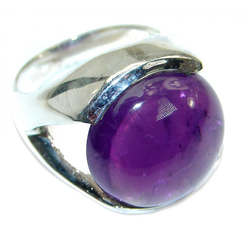 Authentic Amethyst .925 Sterling Silver handmade Ring size 6 1/4