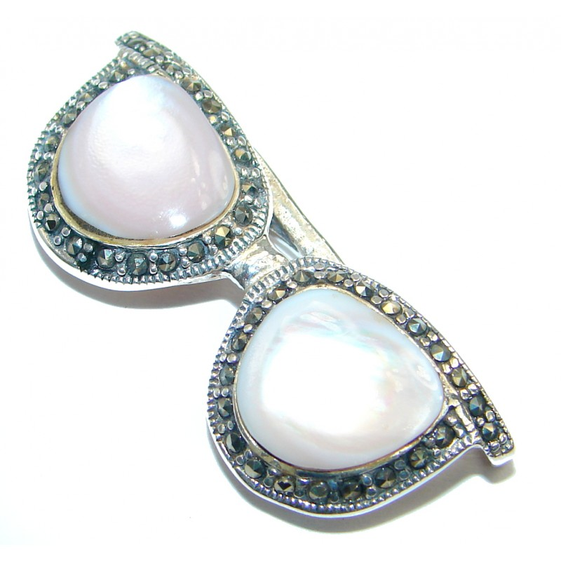 Great quality genuine Blister Pearl .925 Sterling Silver handmade Pendant