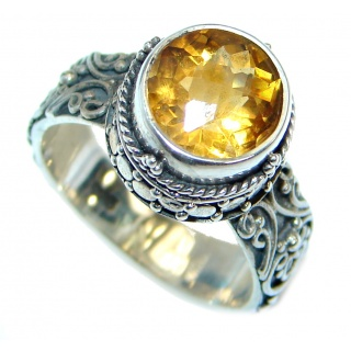 Energazing Citrine .925 Sterling Silver handmade Ring size 7