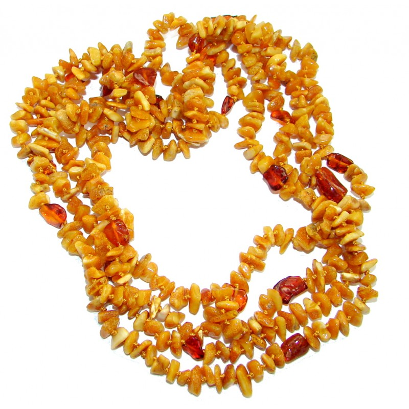 Fabulous Natural Baltic Amber handcrafted 76 inches Necklace