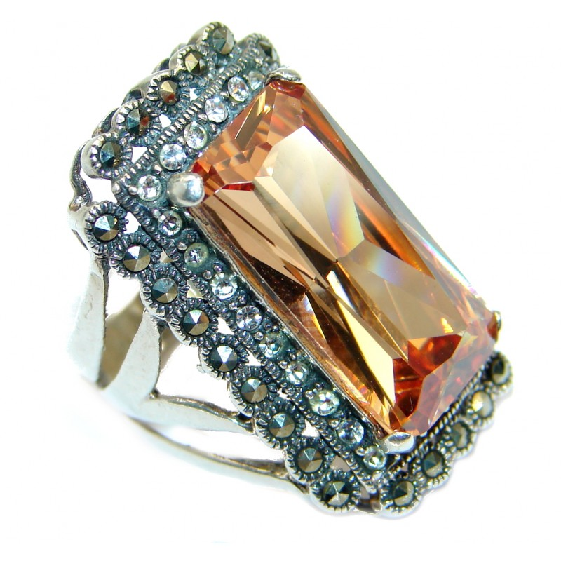 Golden Topaz Sterling Silver .925 Ring size 6