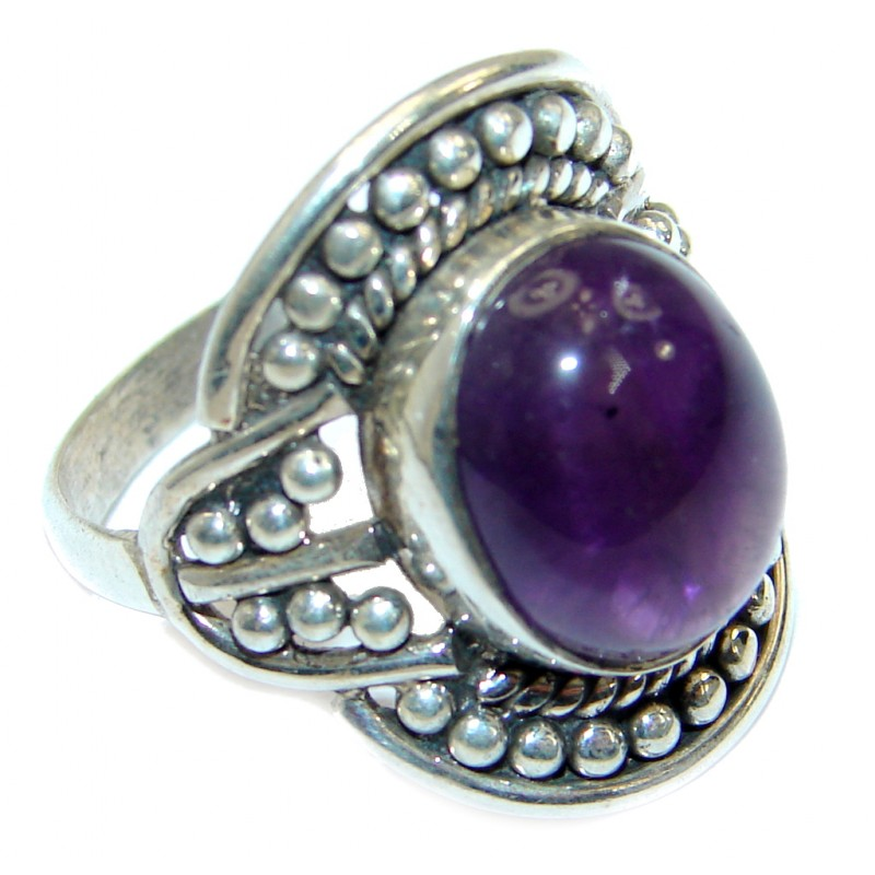 Authentic Amethyst .925 Sterling Silver handmade Ring size 7