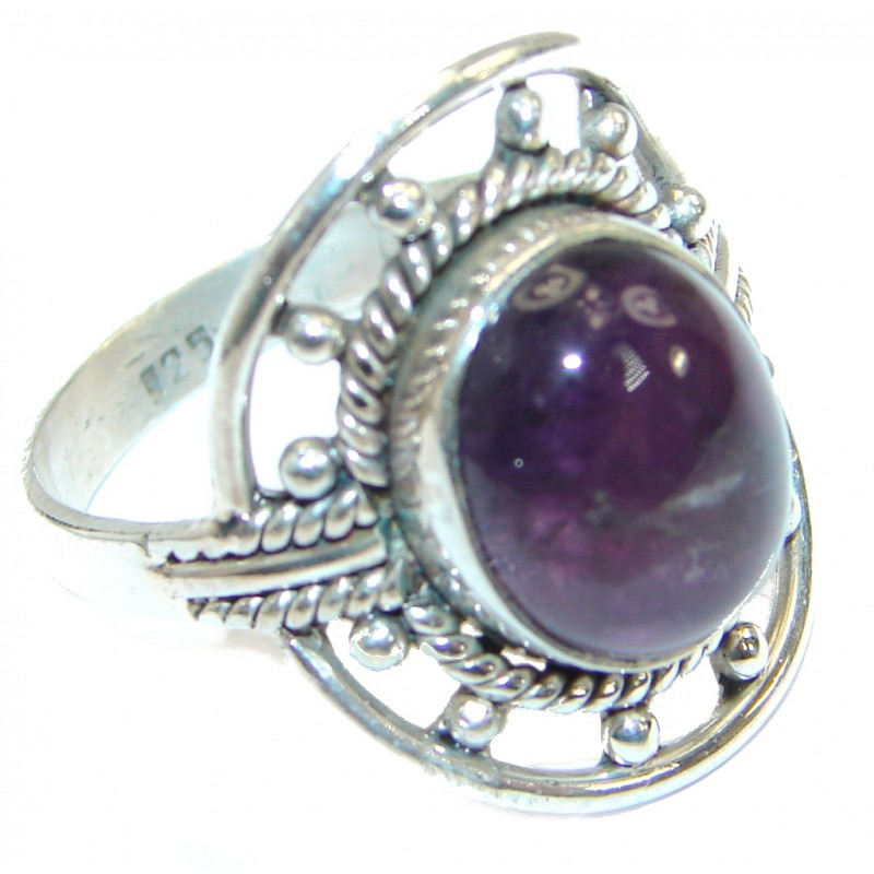 Authentic Amethyst .925 Sterling Silver handmade Ring size 9