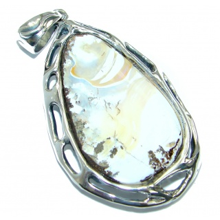Authentic Natural Australian Boulder .925 Sterling Silver handmade Pendant