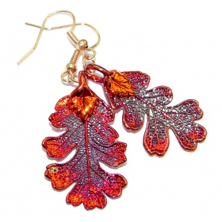 Deeped In Copper Leaves .925 Sterling Silver earrings