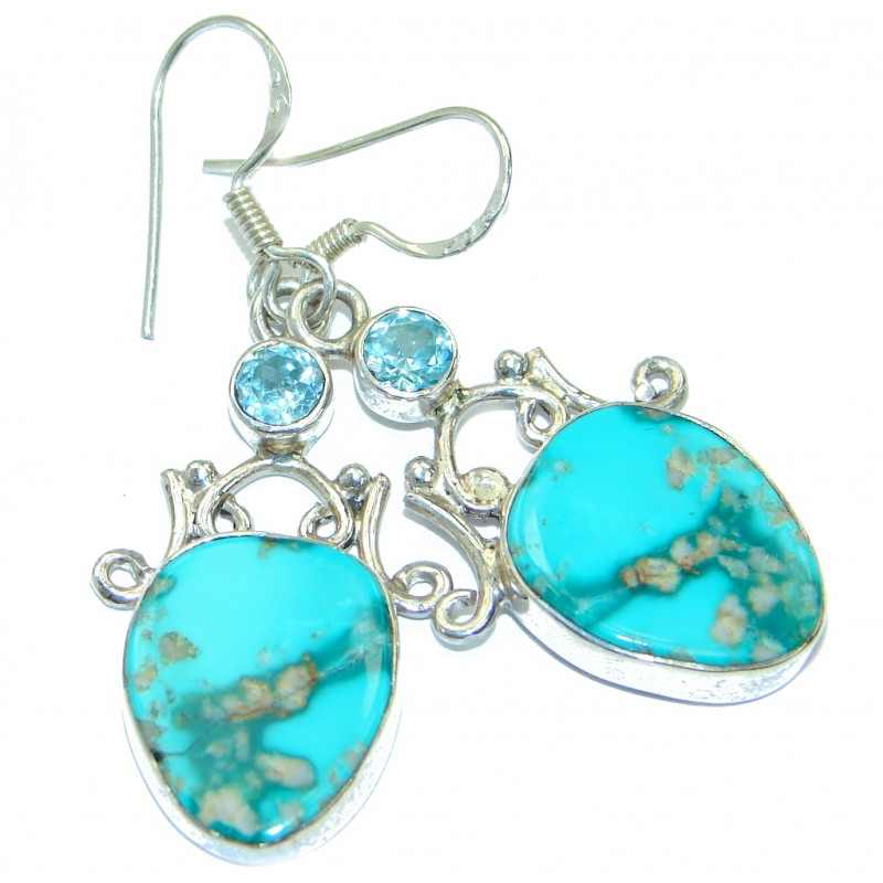 Sublime Style Turquoise .925 Sterling Silver earrings