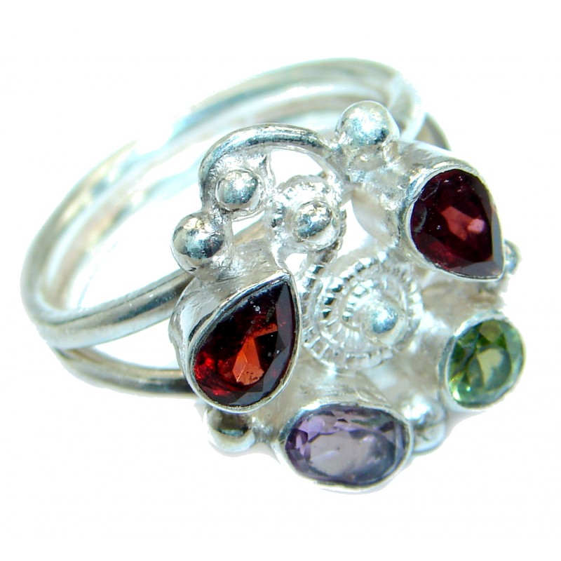 Energazing Multigem Sterling Silver Ring size 8