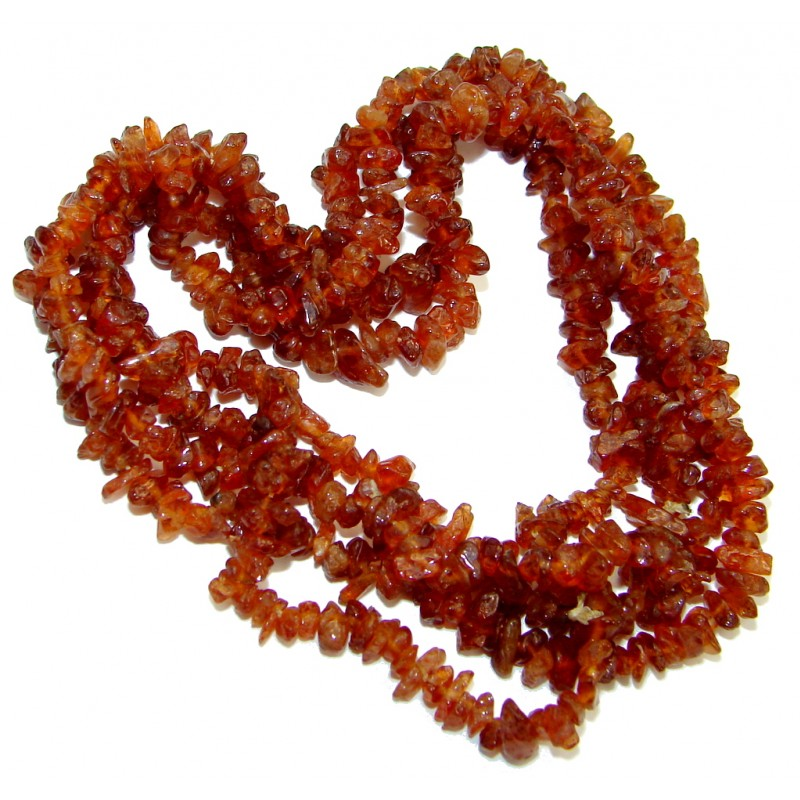 Excellent Brown Amber Beads Strand Necklace