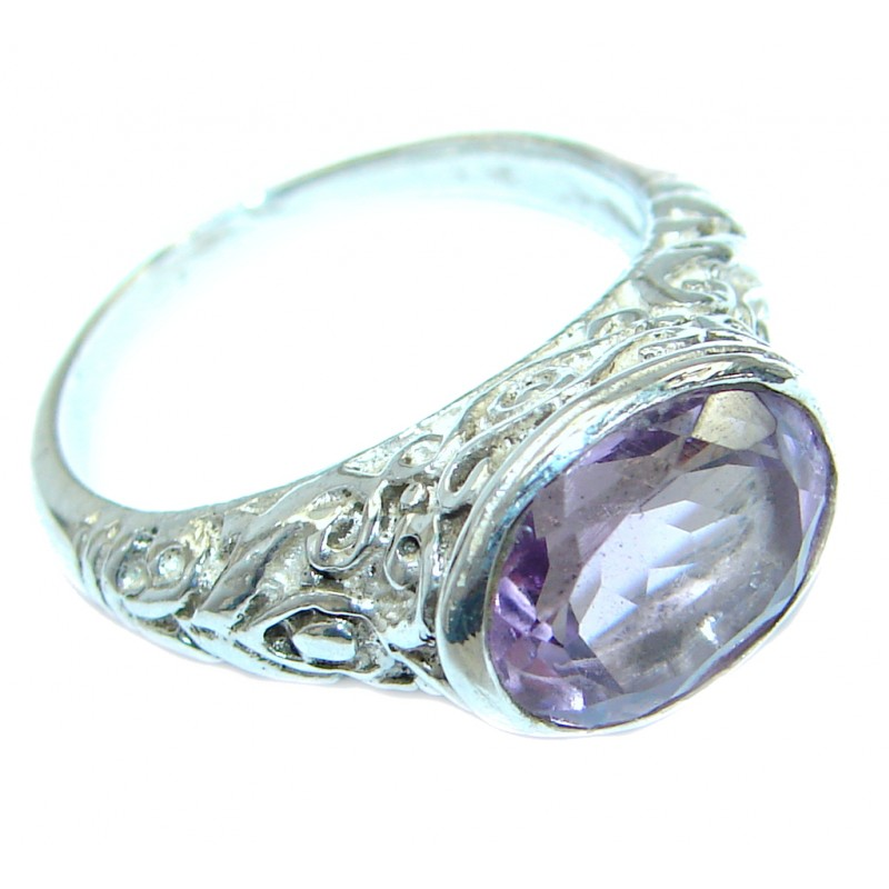 Exotic Pink Amethyst .925 Sterling Silver Ring s. 5 1/2
