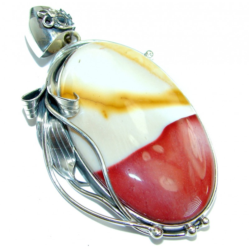 Genuine Australian Mookaite .925 Sterling Silver handcrafted Pendant