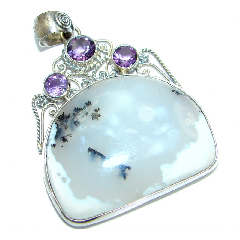 Perfect quality Dendritic Agate .925 Sterling Silver handmade Pendant