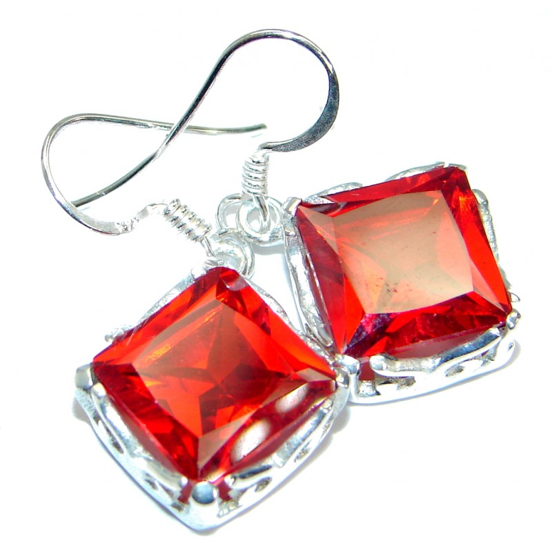 Authentic Cubic Zirconia .925 Sterling Silver handmade earrings