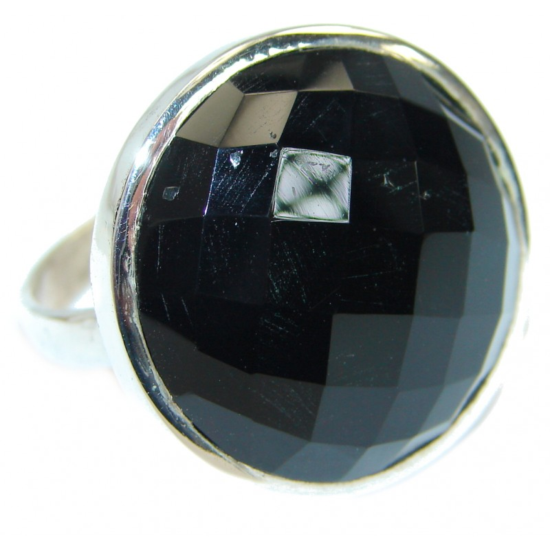 Majestic Authentic Onyx .925 Sterling Silver handmade Ring s. 11