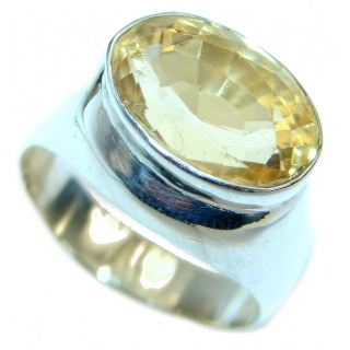 Energazing Citrine .925 Sterling Silver handmade Ring size 9