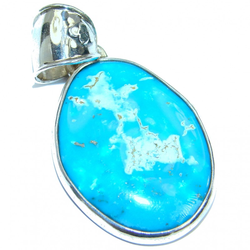 Authentic Turquoise .925 Sterling Silver Handmade Pendant