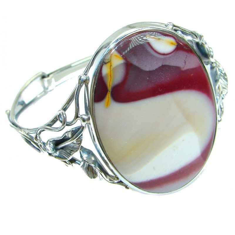 Tuscon Sunset Mookaite handmade .925 Sterling Silver Bracelet / Cuff