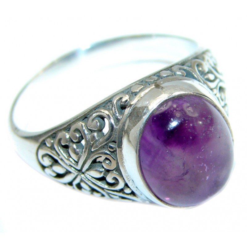 Authentic Amethyst .925 Sterling Silver handmade Ring size 10