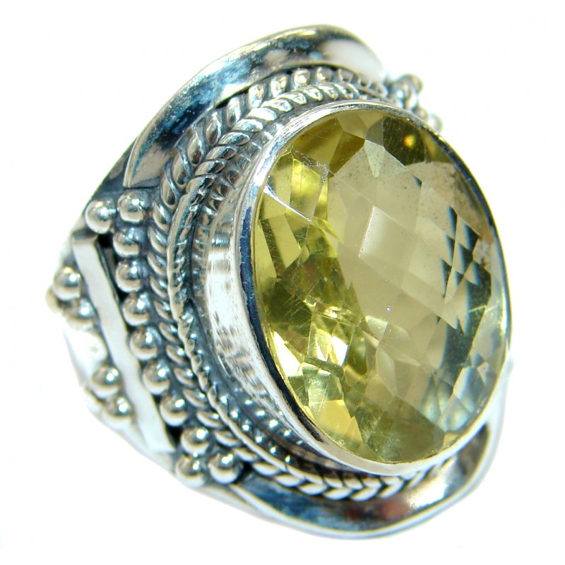 Energazing Citrine .925 Sterling Silver handmade Ring size 8 1/4
