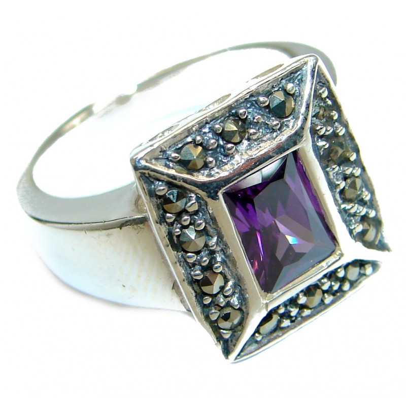 Magic Cubic Zirconia .925 Sterling Silver handmade Ring s. 6