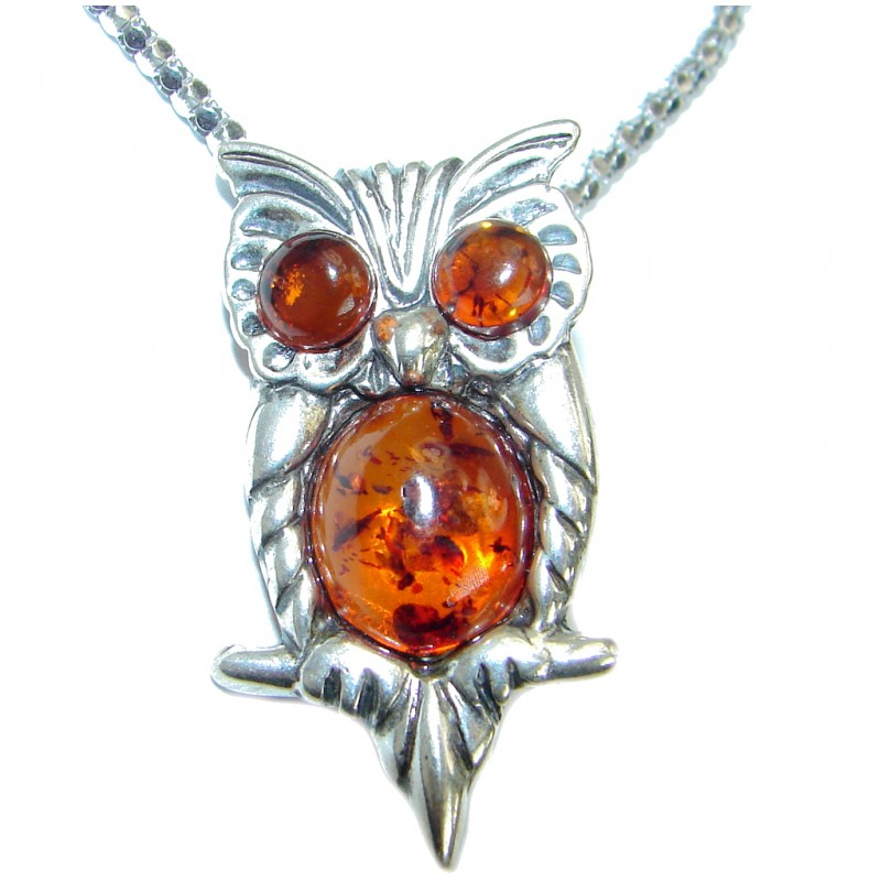 Natural Baltic Amber .925 Sterling Silver handmade necklace