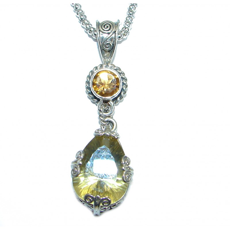 Magic Topaz .925 Sterling Silver handmade necklace