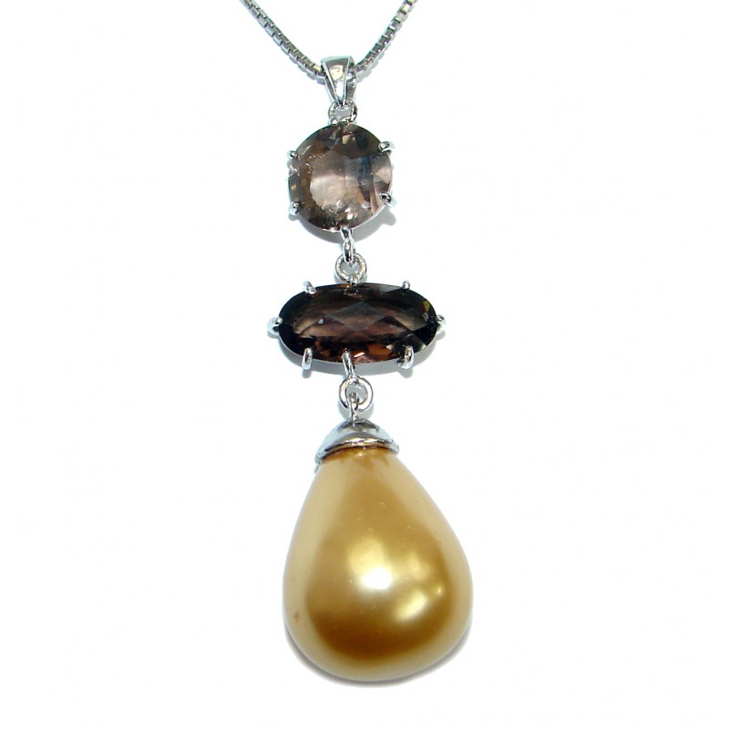 Tropical Beauty Blister Pearl .925 Sterling Silver necklace
