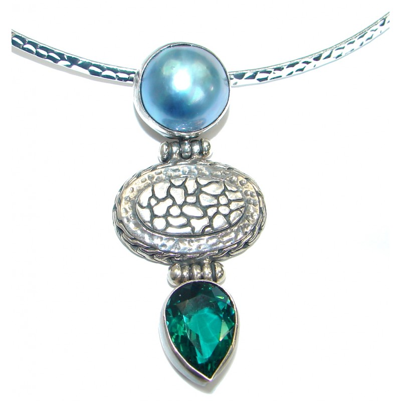 Tropical Beauty Pearl .925 Sterling Silver necklace