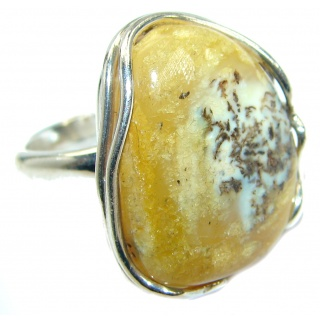 Genuine Butterscotch Baltic Polish Amber .925 Sterling Silver handmade Ring size 7 1/4