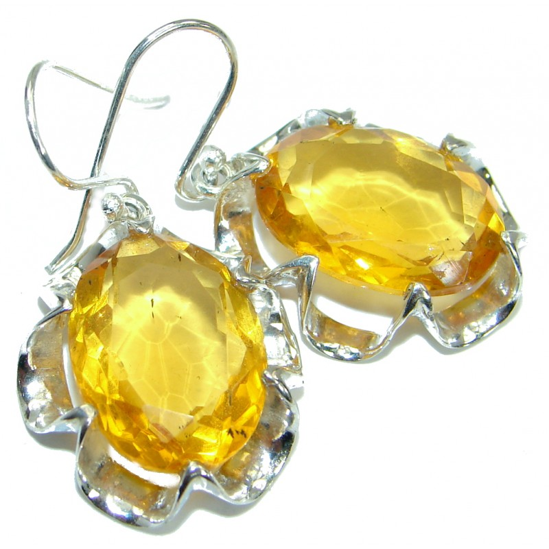 Perfect Quartz .925 Sterling Silver handmade earrings