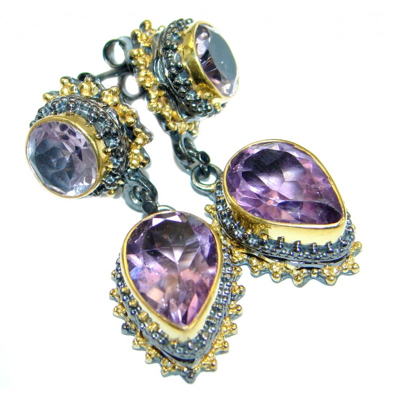 Perfect Amethyst 14K Gold over .925 Sterling Silver handmade ...