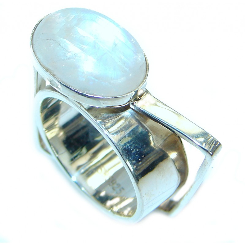 Magic Moonstone .925 Sterling Silver handmade Ring s. 7