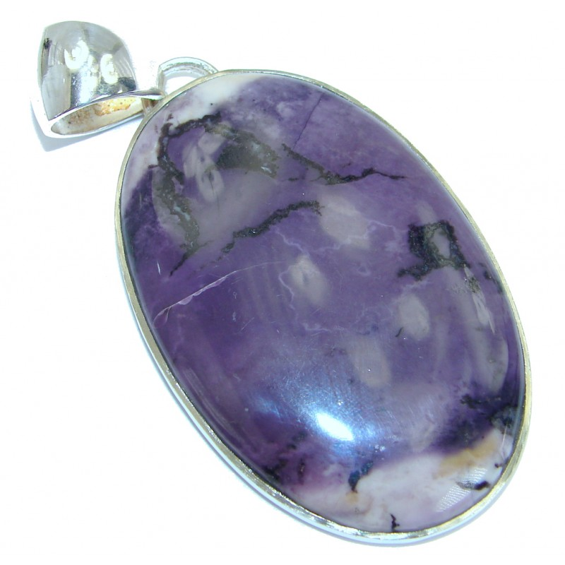 Tiffany Jasper .925 Sterling Silver handcrafted Pendant