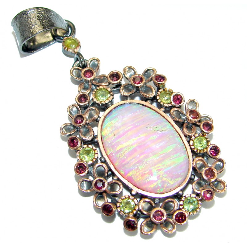 One of the kind Japanese Opal .925 Sterling Silver handmade Pendant
