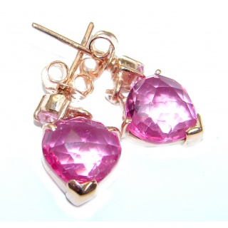 Pink Passion Topaz 14K Gold over .925 Sterling Silver earrings