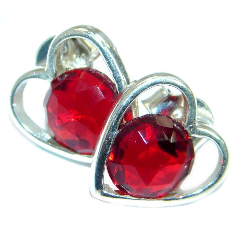 Red Passion Topaz .925 Sterling Silver earrings