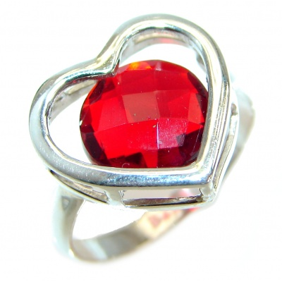 My True Love Red Topaz .925 Silver Ring s. 7