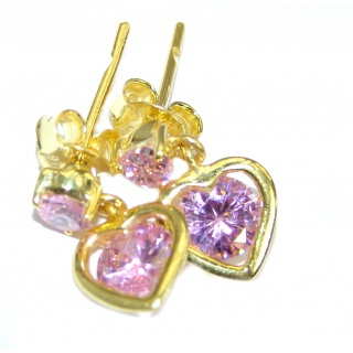 True Passion Topaz 14K Gold over .925 Sterling Silver earrings