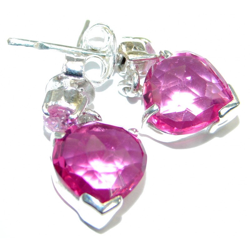 Chic Pink Passion Topaz .925 Sterling Silver earrings