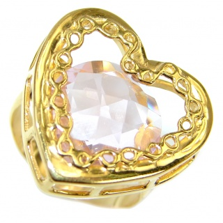 My Love Light Pink Topaz 14K Gold over .925 Silver Ring s. 7 1/2