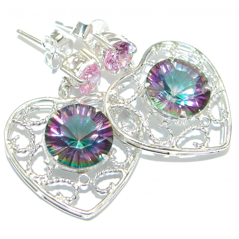 Handcrafted Magic Topaz .925 Sterling Silver handcrafted earrings