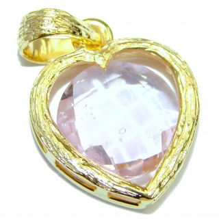 Perfect Pink Topaz 14K Gold over .925 Sterling Silver handcrafted Pendant