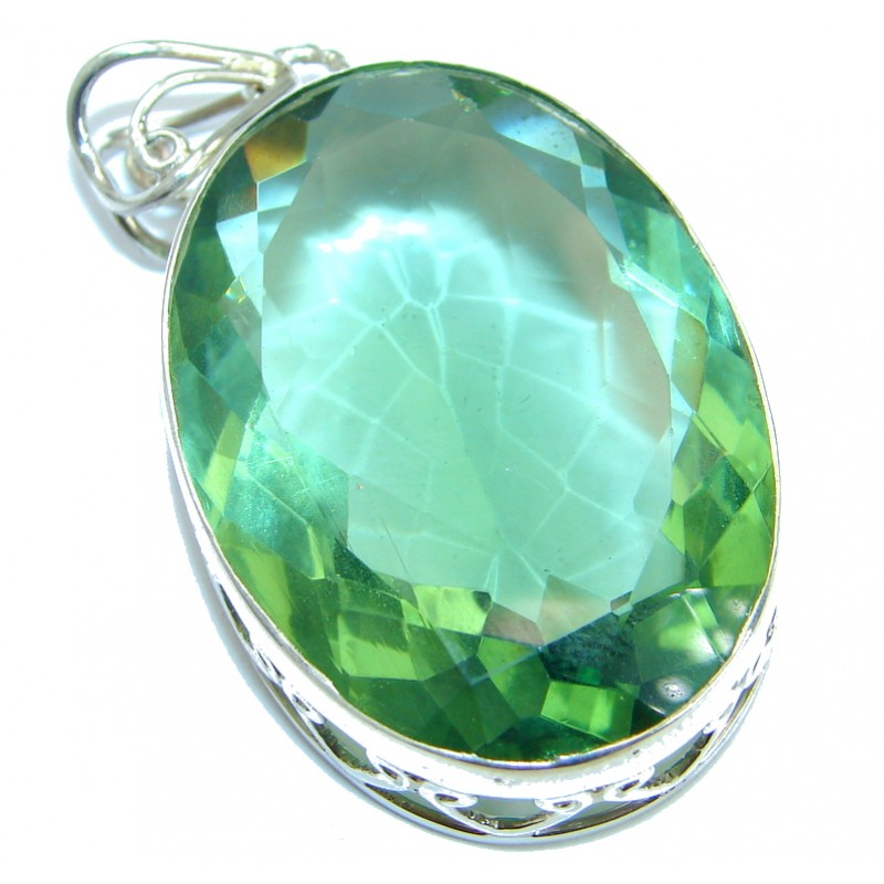 Royal Quartz .925 Sterling Silver handmade Pendant