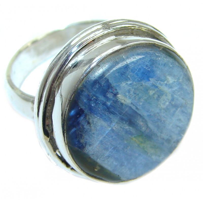 Authentic Blue Kyanite .925 Sterling Silver handmade Ring s. 6