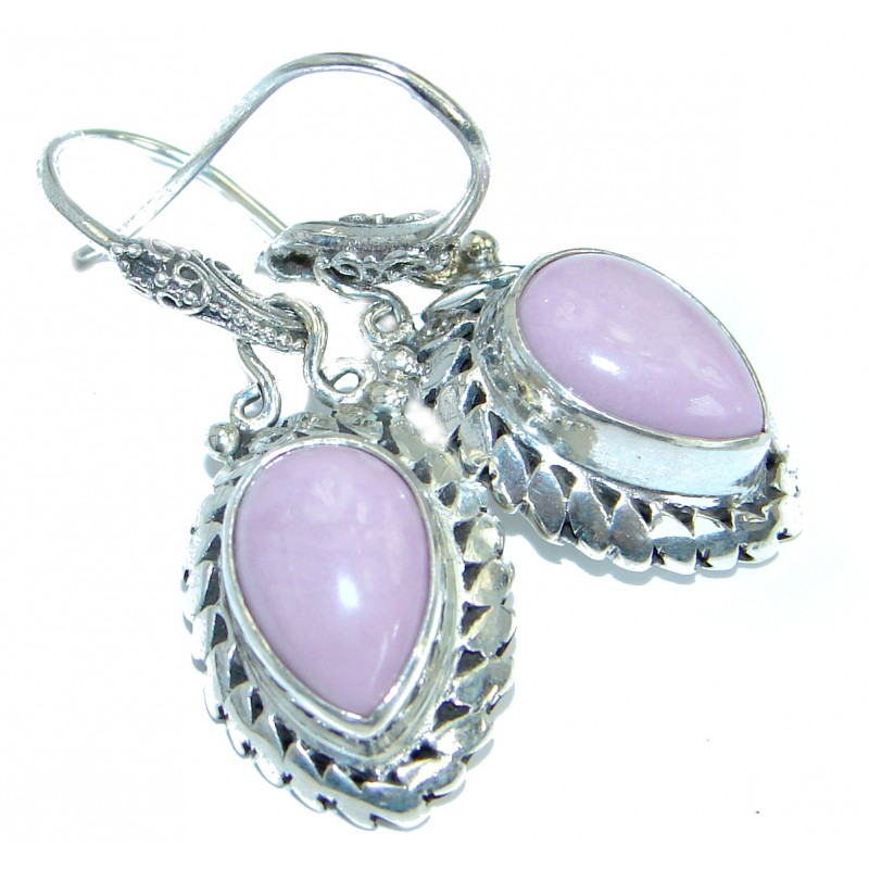Bali Charm Sugilite .925 Sterling Silver handmade earrings