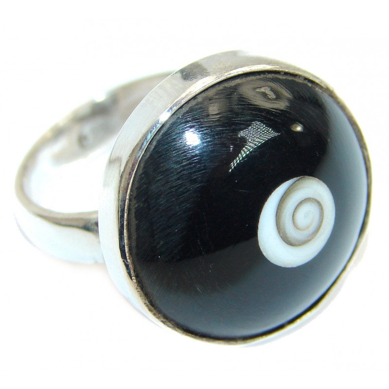 Great Ocean Shell Sterling Silver Ring s. 5 1/2