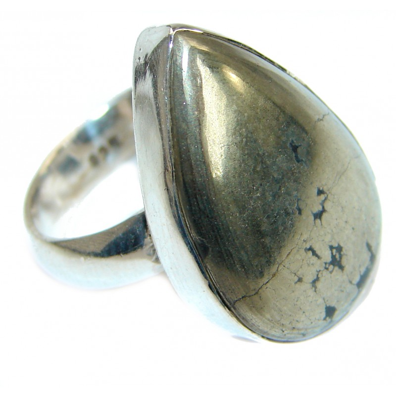 Copper Stone .925 Sterling Silver handmade Ring s. 7