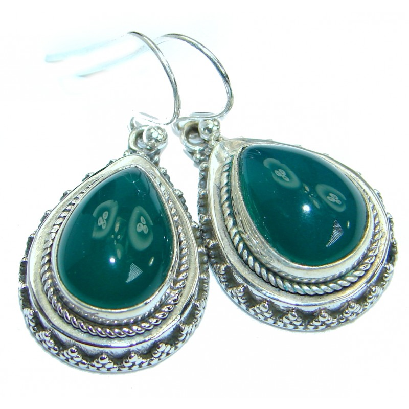 Exclusive Agate .925 Sterling Silver handcrafted earrings