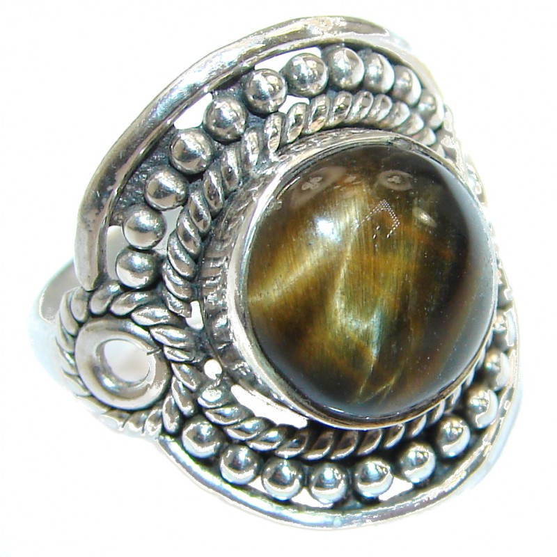 Beautiful Pietersite .925 Sterling Silver handmade Ring size 6