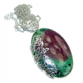 Burgundy Blush Genuine Eudialyte .925 Sterling Silver handcrafted Necklace