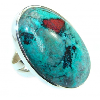 Sonora Jasper .925 Sterling Silver handcrafted Ring size 7 adjustable